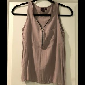 Material Girl (XS) No Sleeve Zippered Top